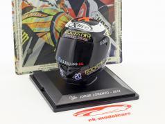 Jorge Lorenzo World Champion MotoGP 2012 helmet 1:5 Altaya