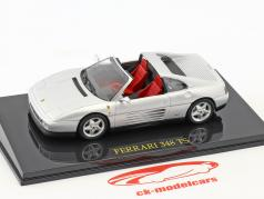 Ferrari 348 TS silver with showcase 1:43 Altaya