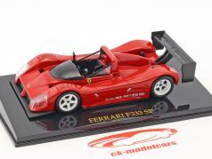Ferrari F333 SP vermelho Plain Body Edition com mostruário 1:43 Altaya