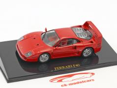 Ferrari F40 red with showcase 1:43 Altaya