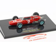 John Surtees Ferrari 158 F1 #2 Formel 1 1964 mit Vitrine 1:43 Altaya