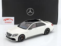 Mercedes-Benz AMG S 63 Mopf lang 钻石 白 1:18 GT-SPIRIT