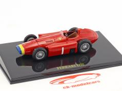 Juan Manuel Fangio Ferrari D50 verdensmester formel 1 1956 med udstillingsvindue 1:43 Altaya