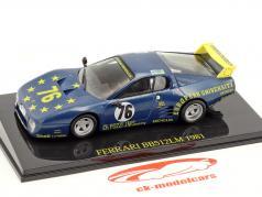 Ferrari BB 512 LM #76 24 horas Le Mans 1981 Xhenceval, Dieudonné, Regout com Showcase 1:43 Altaya