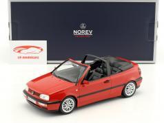 Volkswagen VW Golf Cabriolet Opførselsår 1995 rød 1:18 Norev