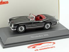 Mercedes-Benz 300 SL Roadster black metallic 1:43 Schuco