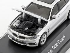 BMW 4er 4 Series (F36) Gran Coupe zilver 1:43 Kyosho