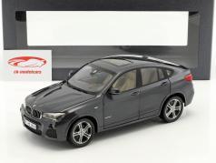 BMW X4 F26 Ano 2014 Sophisto cinza metálico 1:18 ParagonModels