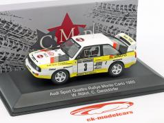 Audi Sport Quattro #3 2º Rallye Monte Carlo 1985 Röhrl, Geistdörfer 1:43 CMR