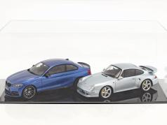 høj kvalitet udstillingsvindue til 1 Modelcar i skala 1:12 eller 2 modelcars i skala 1:18 sort SAFE