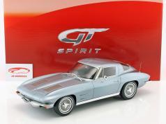 Chevrolet Corvette Baujahr 1963 silberblau metallic 1:12 GT-Spirit