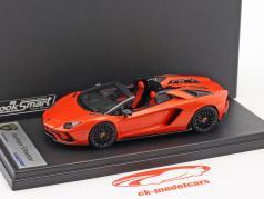 Lamborghini Aventador S Roadster Bouwjaar 2016 oranje metalen 1:43 LookSmart