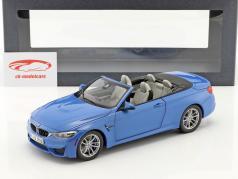 BMW M4 (F83) Convertible Jaar 2015 blauw 1:18 ParagonModels