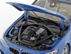 BMW M4 (F83) Convertible Año 2015 azul 1:18 ParagonModels