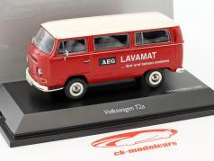 Volkswagen VW T2a Bus L Luksus AEG Lavamat rød / hvid 1:43 Schuco