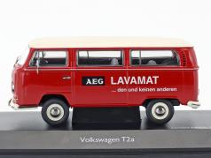 Volkswagen VW T2a Bus L Lujo AEG Lavamat rojo / blanco 1:43 Schuco
