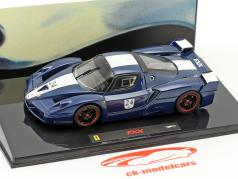 Ferrari FXX  #24 year 2006 Tour de France blue with white stripes 1:43 HotWheels Elite
