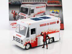 Taco Truck filme Deadpool (2016) branco / vermelho com figura 1:24 Jada Toys