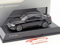 Audi A6 C8 セダン 神話 黒 1:43 iScale