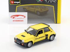 Renault 5 Turbo year 1982 yellow / black 1:24 Bburago