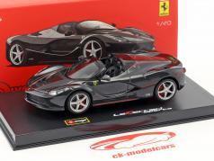 Ferrari LaFerrari Aperta zwart 1:43 Bburago Signature