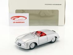 Porsche 356 Nr. 1 mit Kennzeichen Baujahr 1948 silber 1:24 Welly