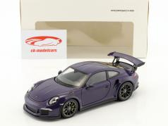 Porsche 911 (991) GT3 RS Bouwjaar 2016 ultraviolet 1:24 Welly