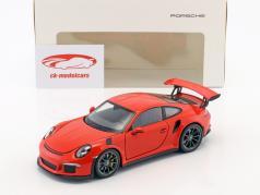 Porsche 911 (991) GT3 RS Baujahr 2016 lava orange 1:24 Welly