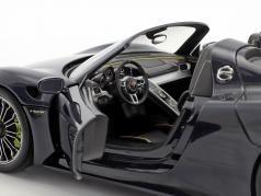 Porsche 918 Spyder année de construction 2015 bleu métallique 1:18 Minichamps