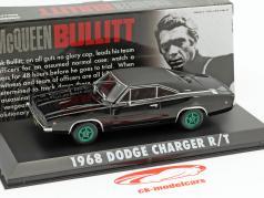 Dodge Charger R / T Steve McQueen film Bullitt (1968) nero / verde cerchioni 1:43 Greenlight