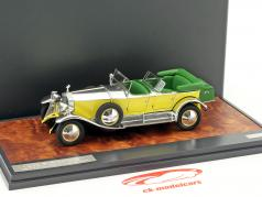 Rolls Royce Phantom 1 Tourer Barker Baujahr 1929 gelb / silber / grün 1:43 Matrix