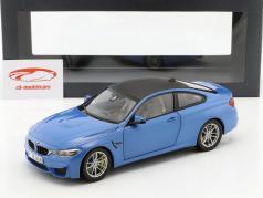 BMW M4 (F82) Coupe Jaar 2014 blauw metalen 1:18 ParagonModels