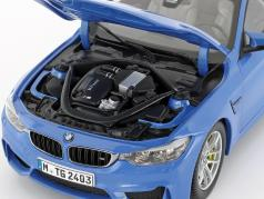 BMW M4 (F82) Coupe Ano 2014 azul metálico 1:18 ParagonModels