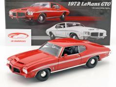 Pontiac LeMans GTO ano de construção 1972 vermelho 1:18 GMP