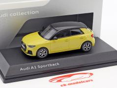 Audi A1 Sportback Phyton amarelo 1:43 iScale