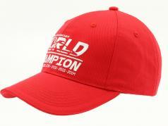 Michael Schumacher Cap World Champion rot