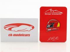 Michael Schumacher Pin Helmet 2000 red