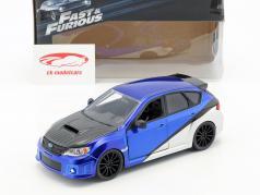 Brian's Subaru Impreza WRX STi 电影 Fast & Furious (2009) 蓝 / 银 / 黑 1:24 Jada Toys