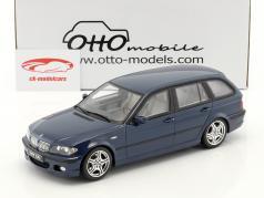 BMW 330i (E46) Touring M Pack Bouwjaar 2005 mysticus blauw 1:18 OttOmobile
