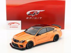 Mercedes-Benz C63 LB-Works ano de construção 2017 laranja metálico 1:18 GT-Spirit