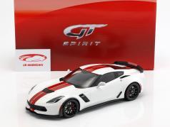 Chevrolet Corvette C7 Z06 année de construction 2017 blanc / rouge 1:18 GT-Spirit