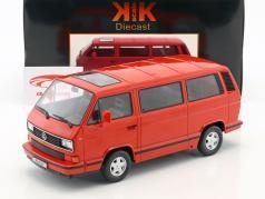 Volkswagen VW Bus T3 Red Star Opførselsår 1993 rød 1:18 KK-Scale