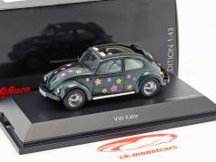 Volkswagen VW bille Open Air Flower Decor grøn metallisk 1:43 Schuco