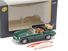 MGB convertible abierto superior verde 1:43 Cararama