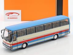 Setra S215 HD bus Bouwjaar 1976 blauw / beige / rood 1:43 Ixo