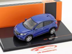 Honda HR-V Hybrid ano de construção 2014 azul metálico 1:43 Ixo