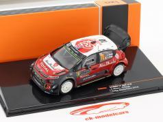 Citroen C3 WRC #10 4 ° Rallye Monte Carlo 2018 Meeke, Nagle 1:43 Ixo