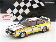 Audi Quattro A2 #1 Sanyo Rallye neozelandese 1984 Röhrl, Geistdörfer 1:18 Minichamps