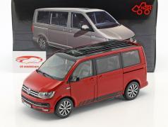 Volkswagen VW T6 Multivan edição 30 vermelho 1:18 NZG