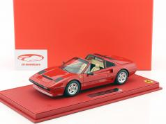 Ferrari 208 GTS Turbo year 1983 corsa red with showcase 1:18 BBR